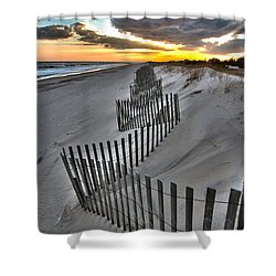 Rogers Beach First Day Of Spring 2014 Shower Curtain