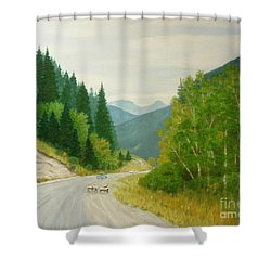 Rogers Pass Bc Shower Curtain