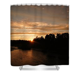 Rogue August Sunset Shower Curtain by Mick Anderson