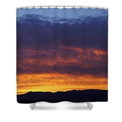 Rogue Valley Sunset Panoramic Shower Curtain by Mick Anderson