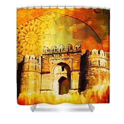 Rohtas Fort 00 Shower Curtain by Catf