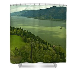 Shower Curtain featuring the photograph Roll On Columbia Roll On by Nick  Boren