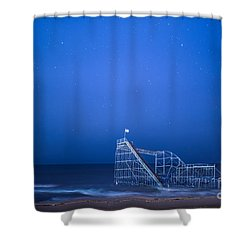 Roller Coaster Stars Shower Curtain by Michael Ver Sprill