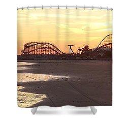 Roller Coaster Sunset Shower Curtain