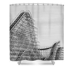 Roller Coaster Wildwood Shower Curtain by Eric  Schiabor