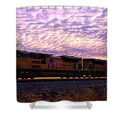 Shower Curtain featuring the photograph Rollin' Around The Bend by Jaki Miller