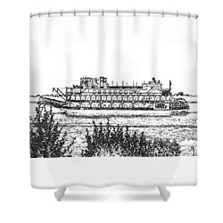 Rollin Down The River Shower Curtain