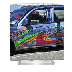 Rolling Art Lowrider Shower Curtain