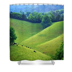 Rolling Hills Of Tennessee Shower Curtain