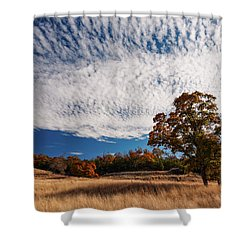 Rolling Hills Of The Texas Hill Country In The Fall - Fredericksburg Texas Shower Curtain
