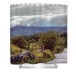 Rolling Storm Clouds Down Cumbrian Hills Shower Curtain