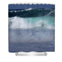 Rolling Thunder Shower Curtain by Karen Wiles