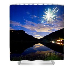 Rollinsville Yacht Club Fireworks Private Show 52 Shower Curtain by James BO  Insogna