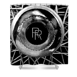 Rolls Royce - Black And White Shower Curtain