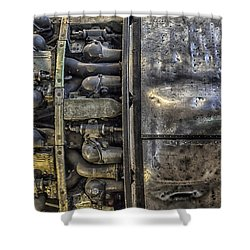 Rolls-royce Dart Turboprop Detail Shower Curtain by Lynn Palmer