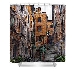 Roman Backyard Shower Curtain by Hanny Heim