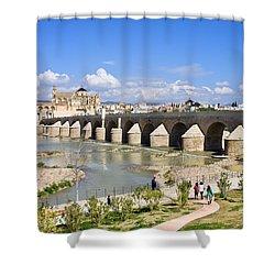 Roman Bridge In Cordoba Shower Curtain by Artur Bogacki