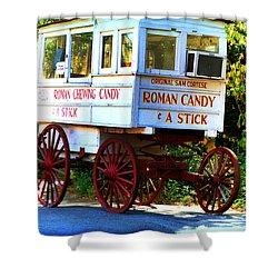 Roman Candy Shower Curtain