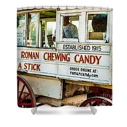 Roman Chewing Candy Nola Shower Curtain by Kathleen K Parker