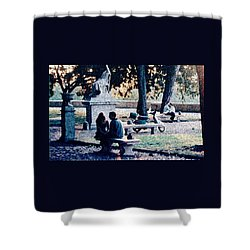 Roman Romance Tivoli Gardens Shower Curtain by Tom Wurl