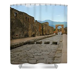 Roman Street In Pompeii Shower Curtain