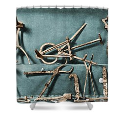 Shower Curtain featuring the photograph Roman Surgical Instruments, 1st Century by Science Source