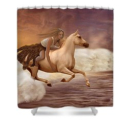 Romance In Her Dream Shower Curtain by Angela A Stanton