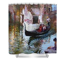 Romance In Venice 2013 Shower Curtain by Ylli Haruni