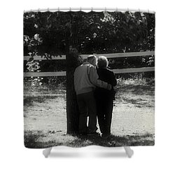 Romance Never Dies Shower Curtain by Peggy Franz