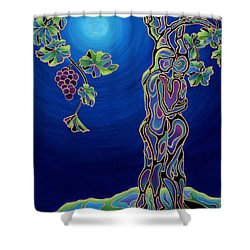 Romance On The Vine Shower Curtain by Sandi Whetzel