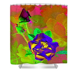 Romancing The Rose Shower Curtain by Will Borden