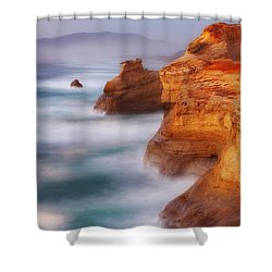Romancing The Stone Shower Curtain by Darren  White