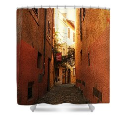 Shower Curtain featuring the photograph Romano Cartolina by Micki Findlay