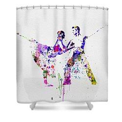Romantic Ballet Watercolor 2 Shower Curtain by Naxart Studio