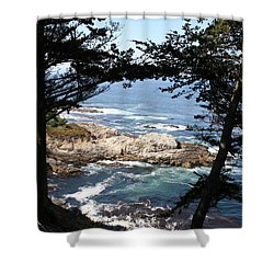 Romantic California Coast Shower Curtain by Christiane Schulze Art And Photography