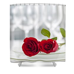 Romantic Dinner Setting Shower Curtain by Elena Elisseeva