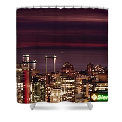 Shower Curtain featuring the photograph Romantic English Bay Mdcci by Amyn Nasser
