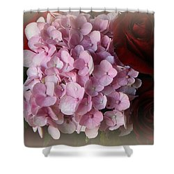 Shower Curtain featuring the photograph Romantic Floral Fantasy Bouquet by Kay Novy