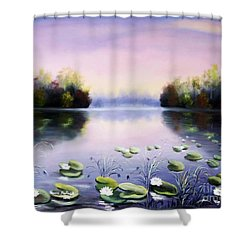 Romantic Lake Shower Curtain by Vesna Martinjak