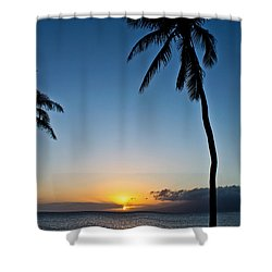 Romantic Maui Sunset Shower Curtain