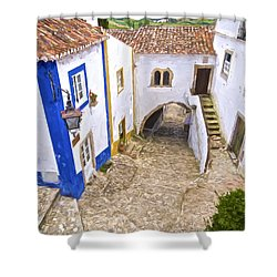 Romantic Obidos Shower Curtain