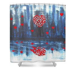 Romantic Reflection Shower Curtain by Diane Pape