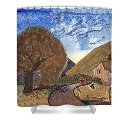 Shower Curtain featuring the painting Romantic Walk by Tracey Williams