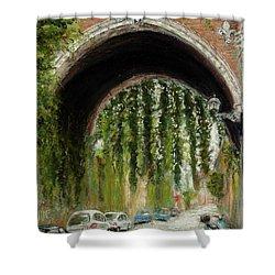 Rome Street Scene Shower Curtain by Mary Benke