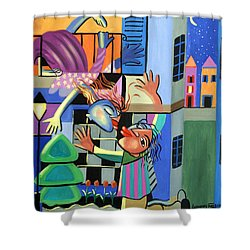 Romeo And Juliet Shower Curtain by Anthony Falbo