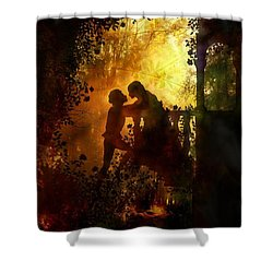 Romeo And Juliet - The Love Story Shower Curtain by Lilia D