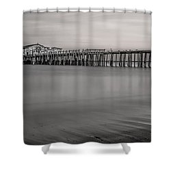 Romeo's Pier Bw Shower Curtain