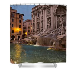 Rome's Fabulous Fountains - Trevi Fountain At Dawn Shower Curtain