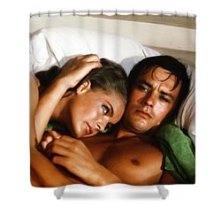 Romy Schneider And Alain Delon Shower Curtain