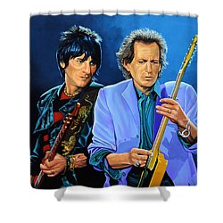 Ron Wood And Keith Richards Shower Curtain